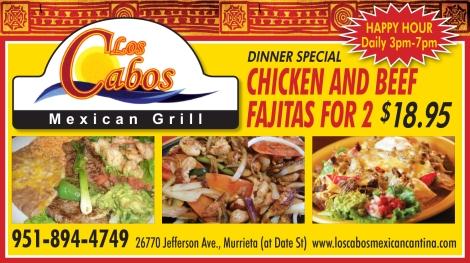 Fajita Special at Los Cabos Mexican Grill in Murrieta!